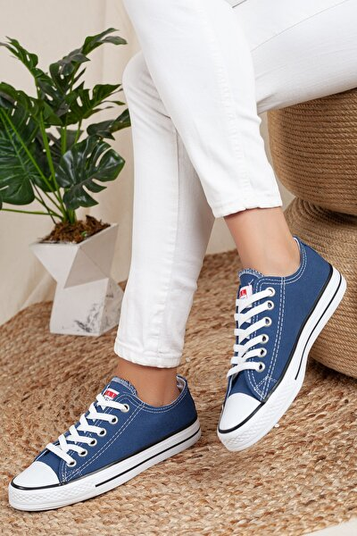 Kadın-erkek Unisex Sneaker Kot-mavi
