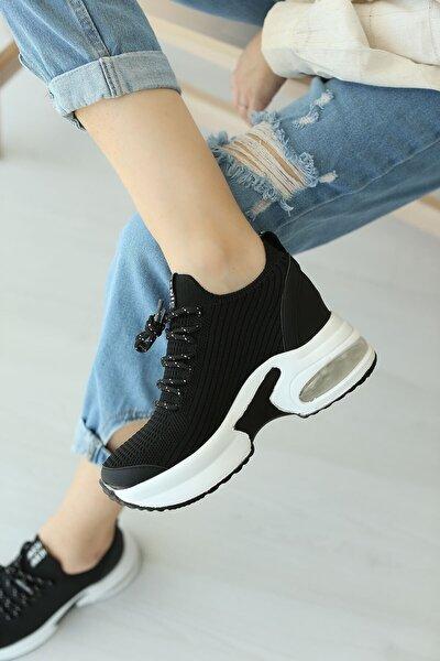Siyah Triko Evelyn Kadın Sneakers