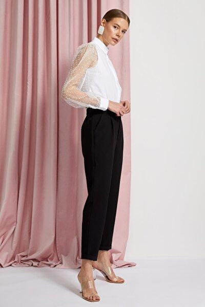 Kadın Siyah Carrot Fit Dokuma Pantolon R0423AZ.20SP.BK27