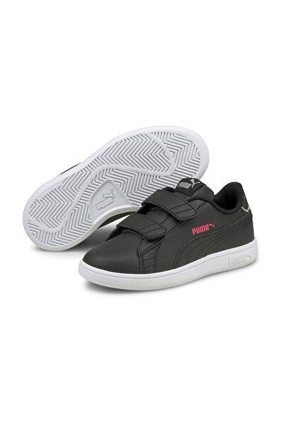 Unisex Çocuk Sneaker Puma Smash v2 SL Metallic V PS Puma Blac 38237502