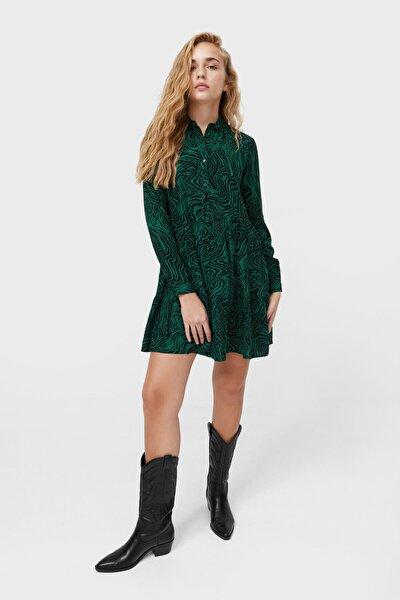 Kadın Kısa Gömlek Elbise