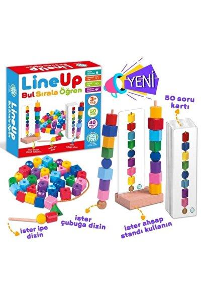 Line Up Ipe Ve Çubuğa Boncuk Ve Şekil Dizme Oyunu