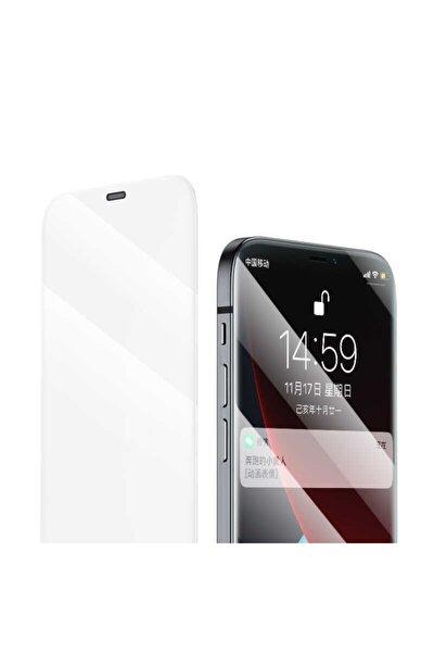 Iphone 12 Mini Uyumlu Ekran Koruyucu Kırılmaz Tam Ekran V-pro Çerçevesiz Ahize Toz Korumalı