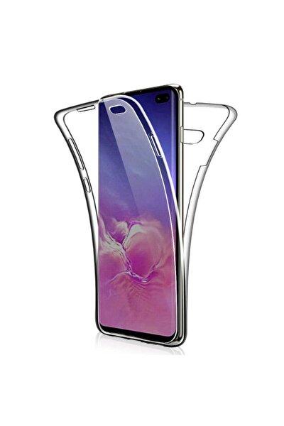 Galaxy S10e Uyumlu Kılıf 360 Derece Tam Koruma Şeffaf Yumuşak Silikon