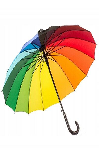 Kırmızı Gökkuşağı Büyük Boy Şemsiye