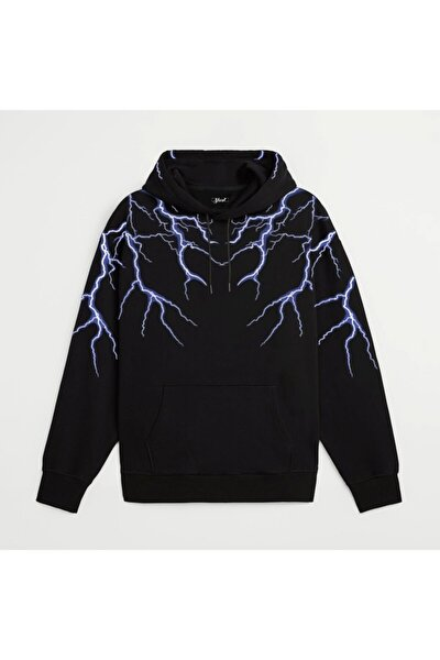 Oversize Lightning Unisex Hoodie