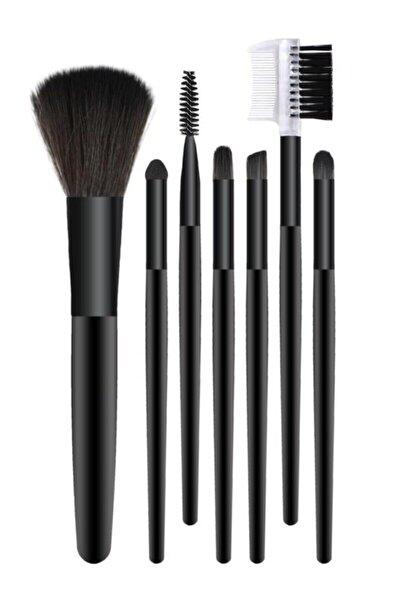 7'li Makyaj Fırça Seti Siyah Renk