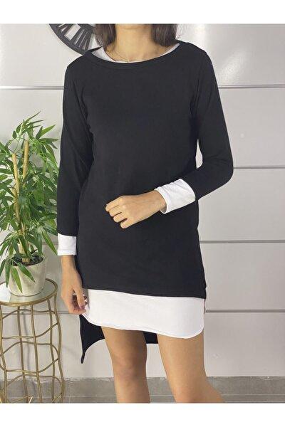Kadın Siyah Yeni Model Kadın Omuz Dekokletli Ikili Takım Elbise