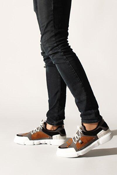 Erkek Gri Renkli Sneaker