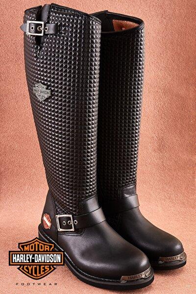 Zoe Black Deri Kadın Çizme