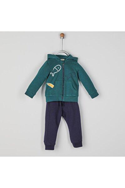 Erkek Bebek Yeşil 2'li Eşofman Takım