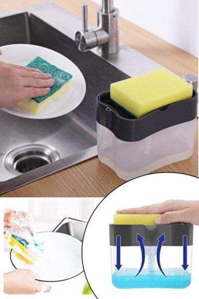 Pompalı Sünger Hazneli Sıvı Sabunluk Sünger Hediyedir