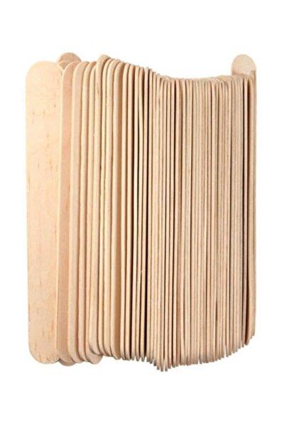 Ahşap Dil Basma Çubuğu (abeslang) Naturel 50`li Paket (150x18 Mm)