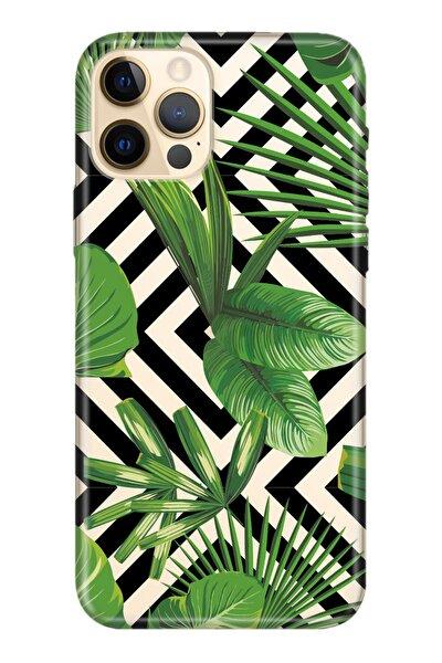 Iphone 12 Pro Max Kılıf Temalı Hd Desenli Silikon Kapak - Voque Yaprak