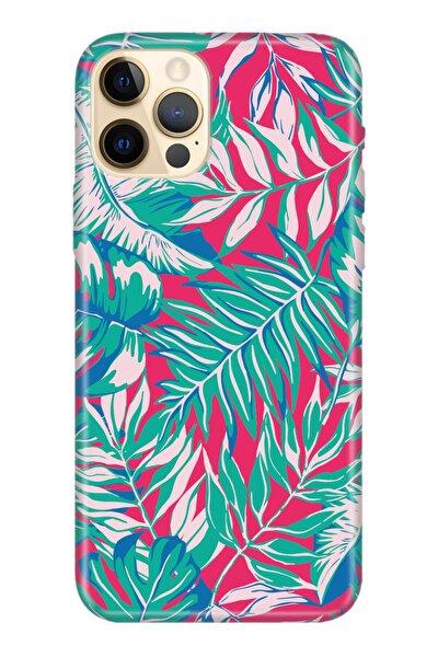 Iphone 12 Pro Max Kılıf Temalı Hd Desenli Silikon Kapak - Mat Yaprak