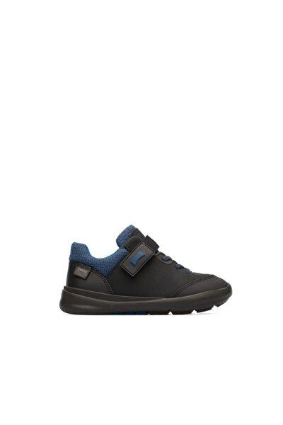 Erkek Çocuk Siyah Mavi Cırtlı Ortopedik Ayakkabı Ergo K800328-003