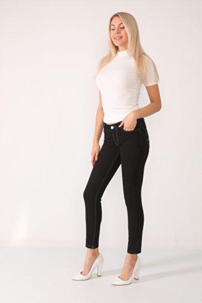 Kadın Siyah Denim Pantolon