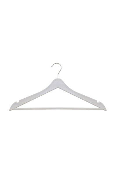 Elbise Askısı Beyaz Ahşap Görünümlü Plastik 12 Adet