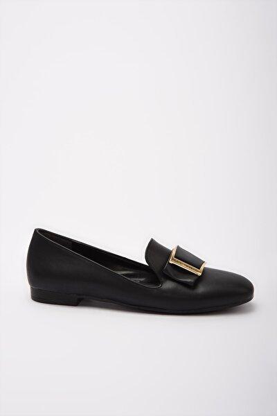 Sıyah Kadın Loafer Ayakkabı 01AYY189590A100