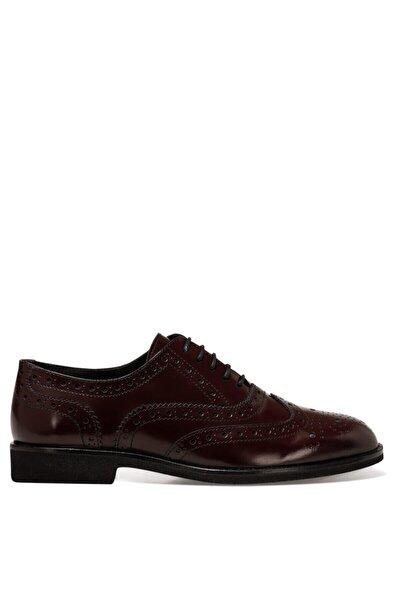 PERAN Bordo Kadın Oxford Ayakkabı 100582062