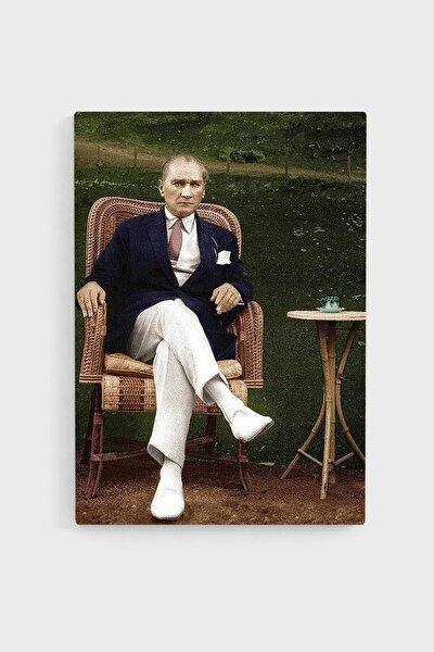 Atatürk Deri Kanvas Tablo 35x50