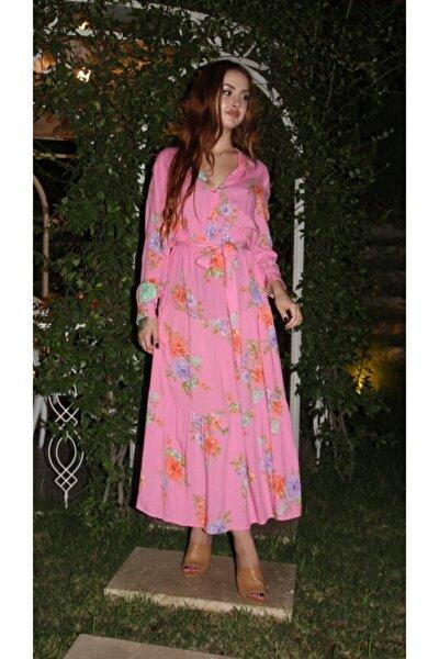 Kadın Pembe Maxi Elbise