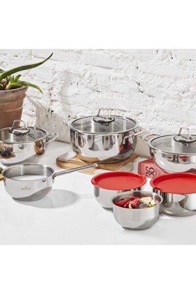 Pişir Sakla 13 Parça Çelik Set