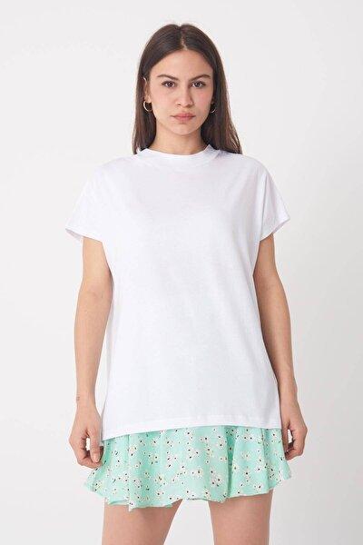 Kadın Beyaz Basic Tişört P0769 - DK2 ADX-0000020933