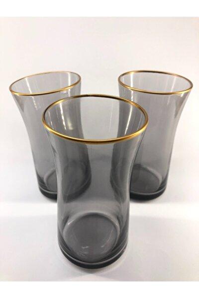 Neo Siyah Renkli Meşrubat Bardağı 3'lü