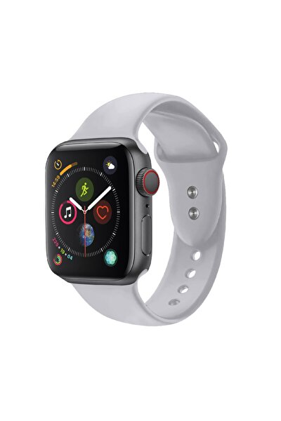 Apple Watch Saat Kayışı Çift Kilit Pimi Ile 38mm Küçük/orta Boy Gri
