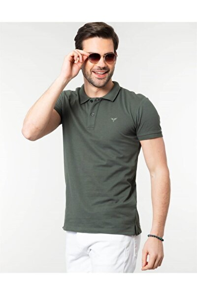 Erkek Yeşil Polo Yaka Spor T-Shirt