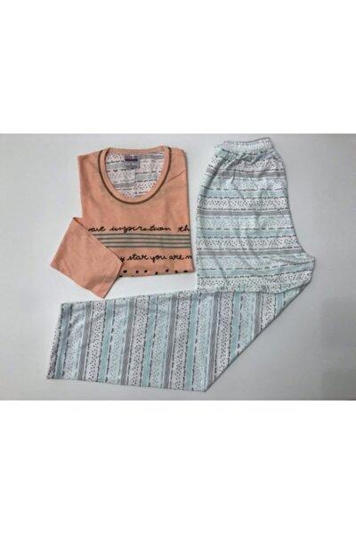 Kadın Yazılı Pijama Takımı