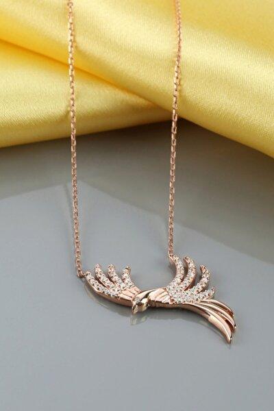 Anka Kuşu Gümüş Kolye