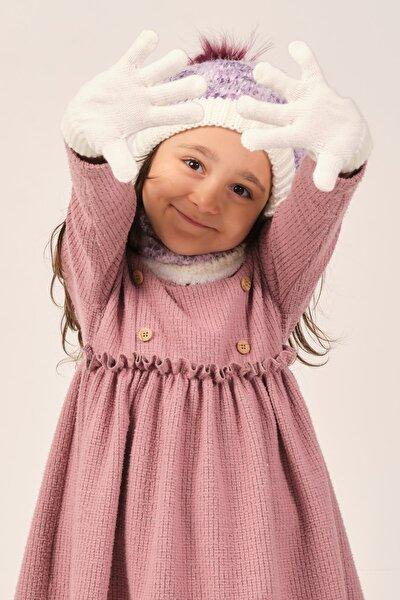 Kız Çocuk Şapka Eldiven Boyunluk Seti