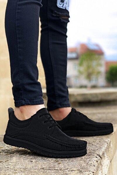 Erkek Siyah Bağcıklı Ayakkabı