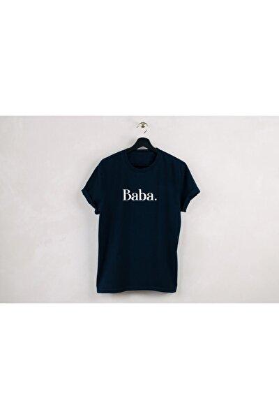 Erkek Tshirt Baba.Baskılı Bisiklet Yaka Tshirt Tasarımı