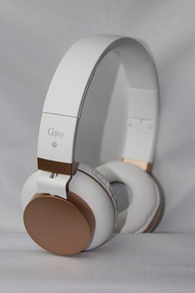 Kulaküstü Kablolu Mikrofonlu Beyaz Kulaklık