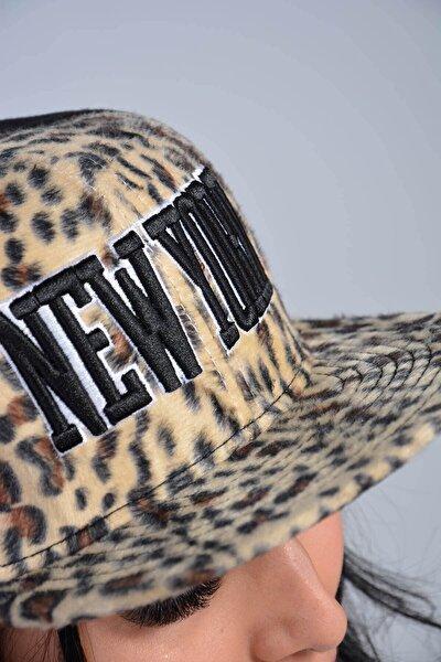 Kadın Siyah New York Leoapar Tüylü Snapback Kep Şapka