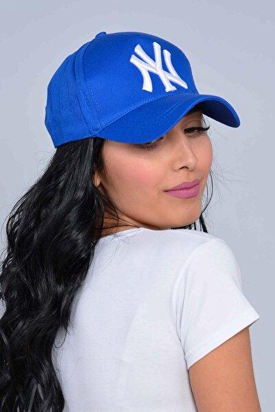 Unisex Saks Mavisi New York Şapka