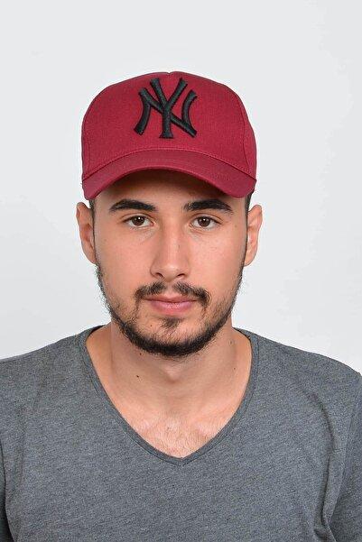 Erkek Bordo New York Ny Nakışlı Şapka