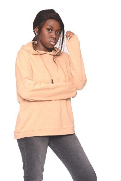 Kadın Fit Relax Kavuniçi Sweatshirt