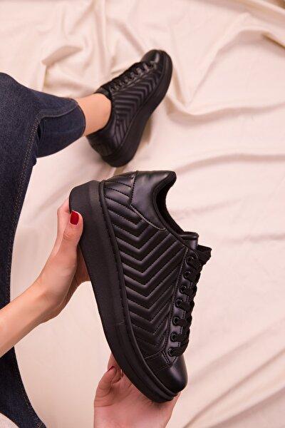 Siyah-Siyah Kadın Sneaker 15627