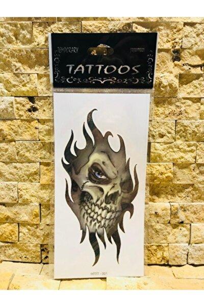 Geçici Kuru Kafa Modelli Dövme Tattoo