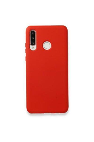 Huawei P30 Lite Kılıf Içi Kadife Lansman Silikon Kapak Kırmızı