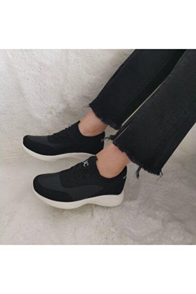 Yeni Sezon Aqua Ortopedik Ipli Lastikli Bayan Yürüyüş Spor Ayakkabı Sneaker