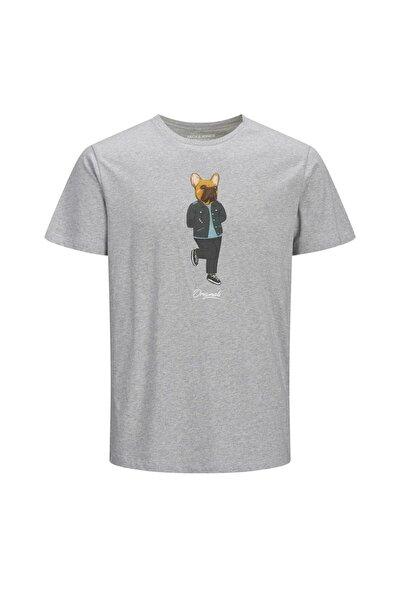 Erkek Gri Jorfrenchıe Tee Ss Crew Neck Tişört