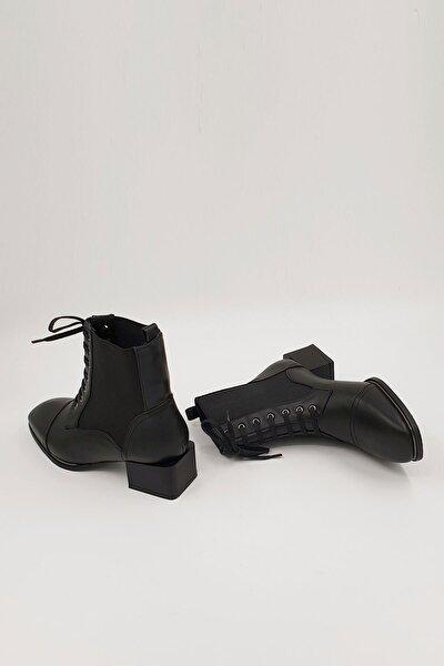 Kadın Siyah Covel Topuklu Bot