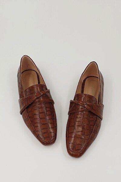 Kadın Taba Croco Dolinva Günlük Loafer Ayakkabı