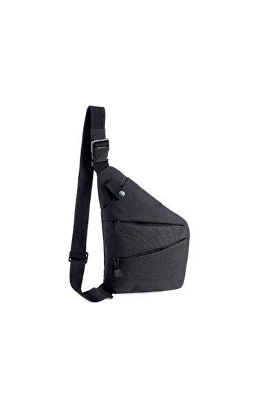 Unisex Siyah Askılı Çapraz Spor Omuz Çantası