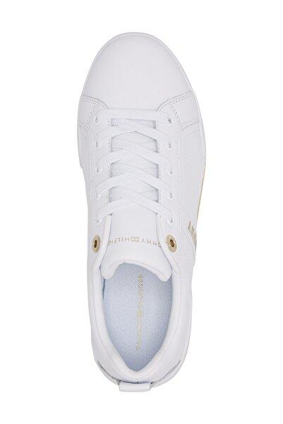 Kadın Beyaz Sneaker Branded Outsole Strappy Sneaker FW0FW05217